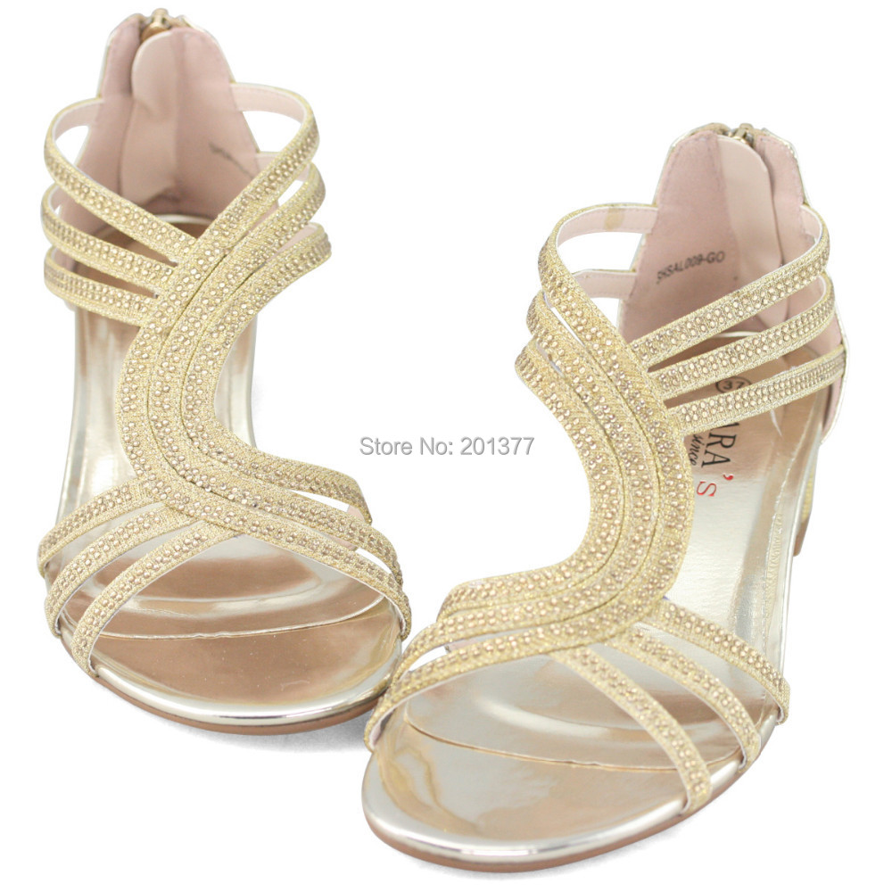 LARA's t bar strappy medium heel sandals shoes woman silver gold ...