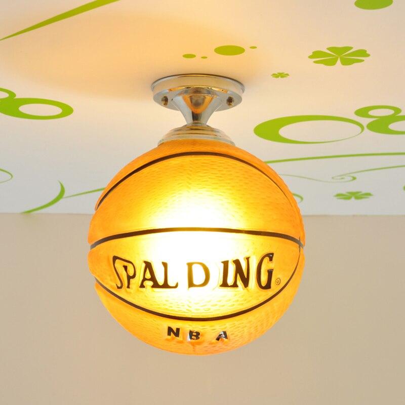 Lampe de plafond moderne décoration de chambre d'enfants lampe de Football LED plafonniers éclairage de salle de bains lumières de basket-ball pour les enfants