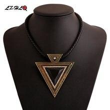 Lzhlq ожерелья с треугольными подвесками модная женская НЕОБРАБОТАННАЯ