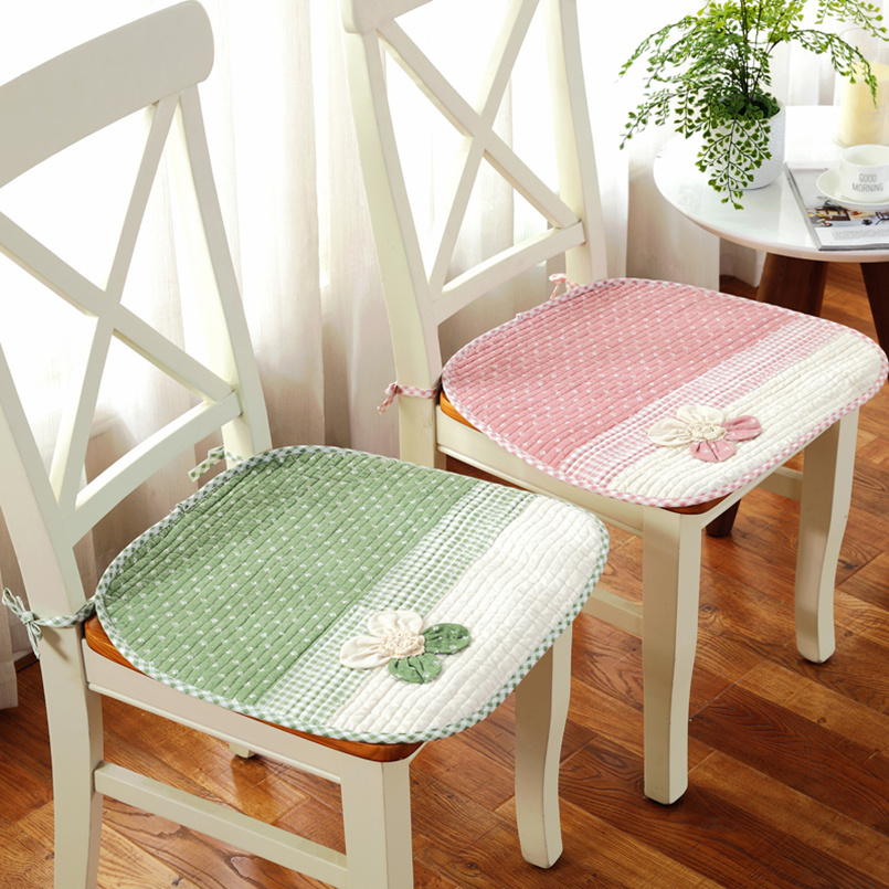 popular summer antislip chair sear cushion 4545cm cloth dining chair pads family