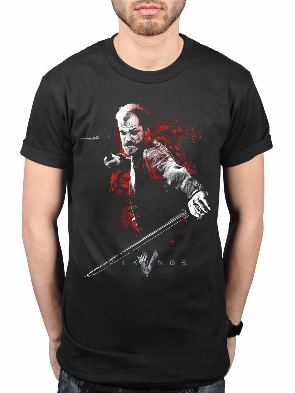 l Vikings Floki Attack T-shirt SERIE TV STORIA VENTAGLIO Merchandise