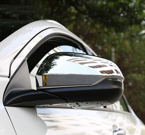 <font><b>ACCESSORIES</b></font> FIT FOR FOR <font><b>HONDA</b></font> HR-V VEZEL 2014 2015 2016 CHROME SIDE MIRROR COVER TRIM MOLDING CAP OVERLAY GARNISH <font><b>HRV</b></font> image