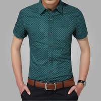2016 New Men Shirts Brand Turn Down Collar Slim Fit Mens Chemise Homme Casual Summer Beach