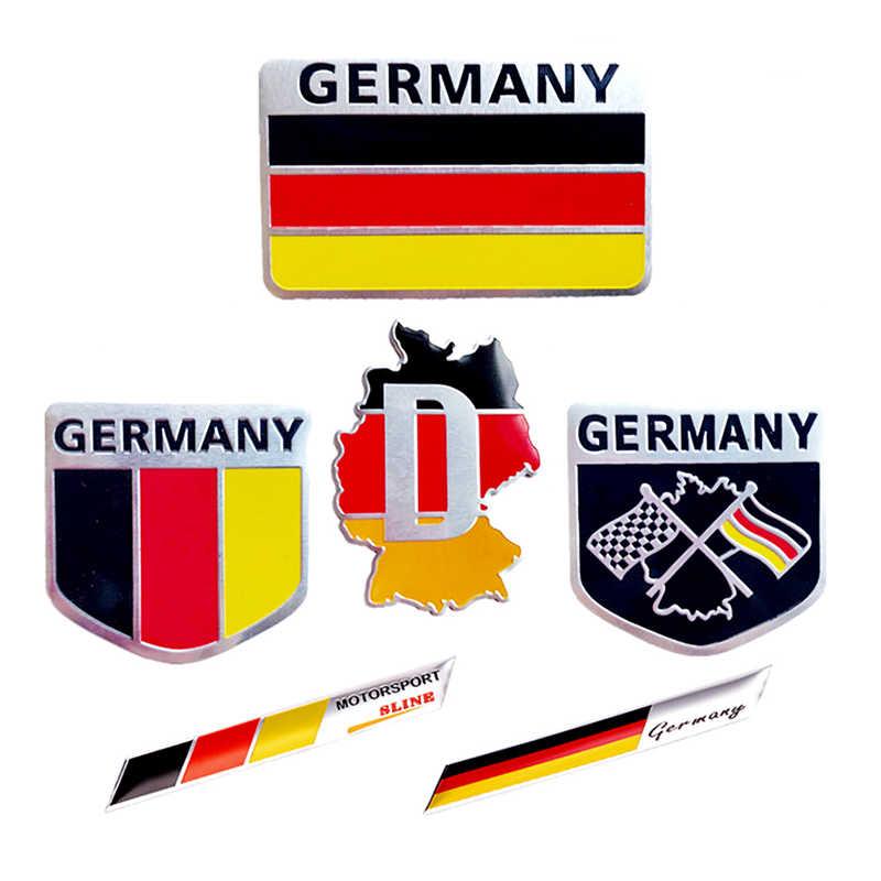 3D almanya alman motor sporları Sline ulusal bayrak motosiklet Deutsch Sticker araba aksesuarları otomobil Grille tampon dekorasyon