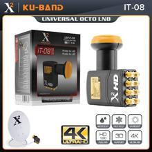 האוניברסלי Ku Band LNB עבור טלוויזיה בלווין מקלט גובה רווח נמוך רעש HD הדיגיטלי 8 מתוך LNB