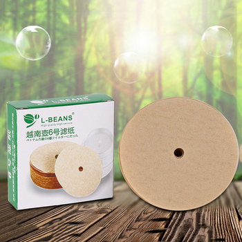 100PCS Coffee Filter Papers Made Of Wood Fiber Material For Vietnam Style Coffee