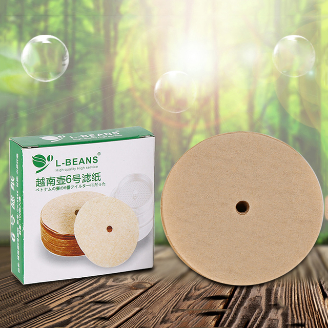 100PCS Coffee Filter Papers For Vietnam Style Coffee Mug Cup Jug Coffee Drip Cup Filter Maker Strainer
