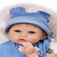 22 Inch 55cm Hot Sale Solid Silicone Reborn Baby Dolls Wholesale Lifelike Soft Dolls Fashion Doll