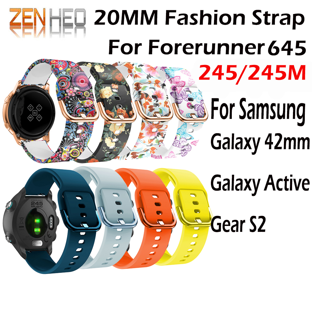 Silicone Bracelet Garmin Forerunner 245M Galaxy Active Samsung Band-Accessories Replacement