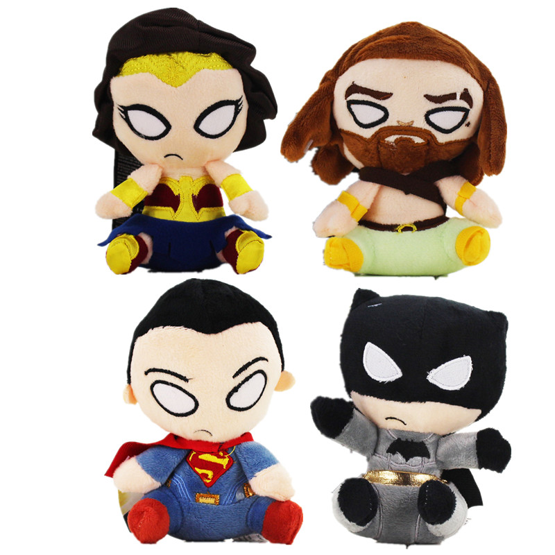 4styles 13cm Justice League Plush cartoon doll toy cute Batman Superman Super Man Wonder Woman Plush