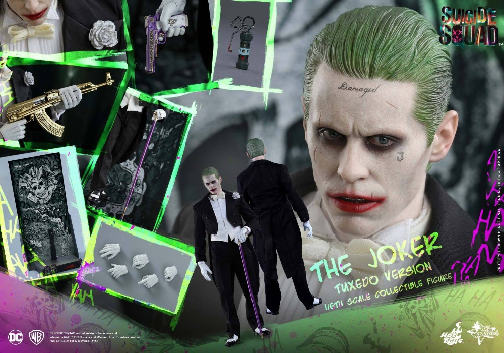1:6 scale figure doll Suicide Squad The Joker Tuxedo Jared Leto 12 Action figure doll Collectible model plastic toy 1 6 scale figure doll terminator3 rise of the machines fembot t x 12 action figure doll collectible model plastic toy