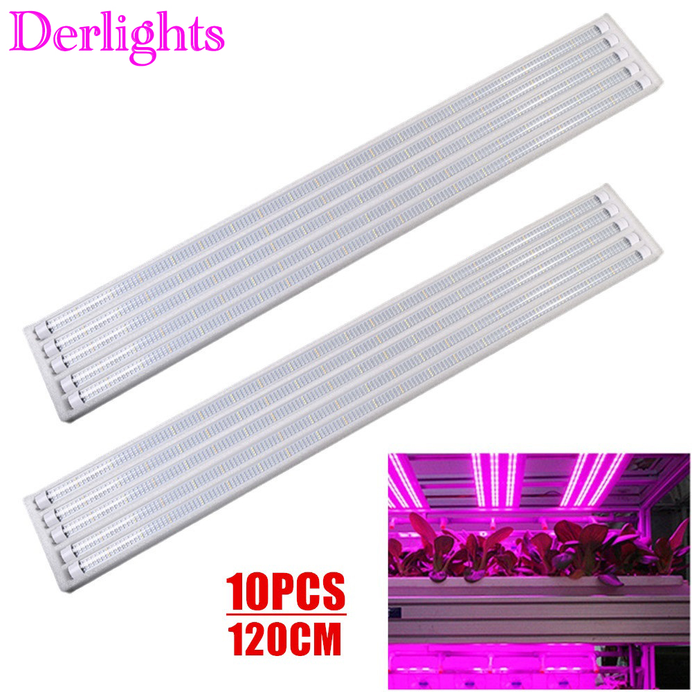 10PCS Led Grow Light Full Spectrum T8 Tube LED 120cm Indoor Plant Lamp Hydroponic Greenhouse LED Grow Tent Lamps For Plants