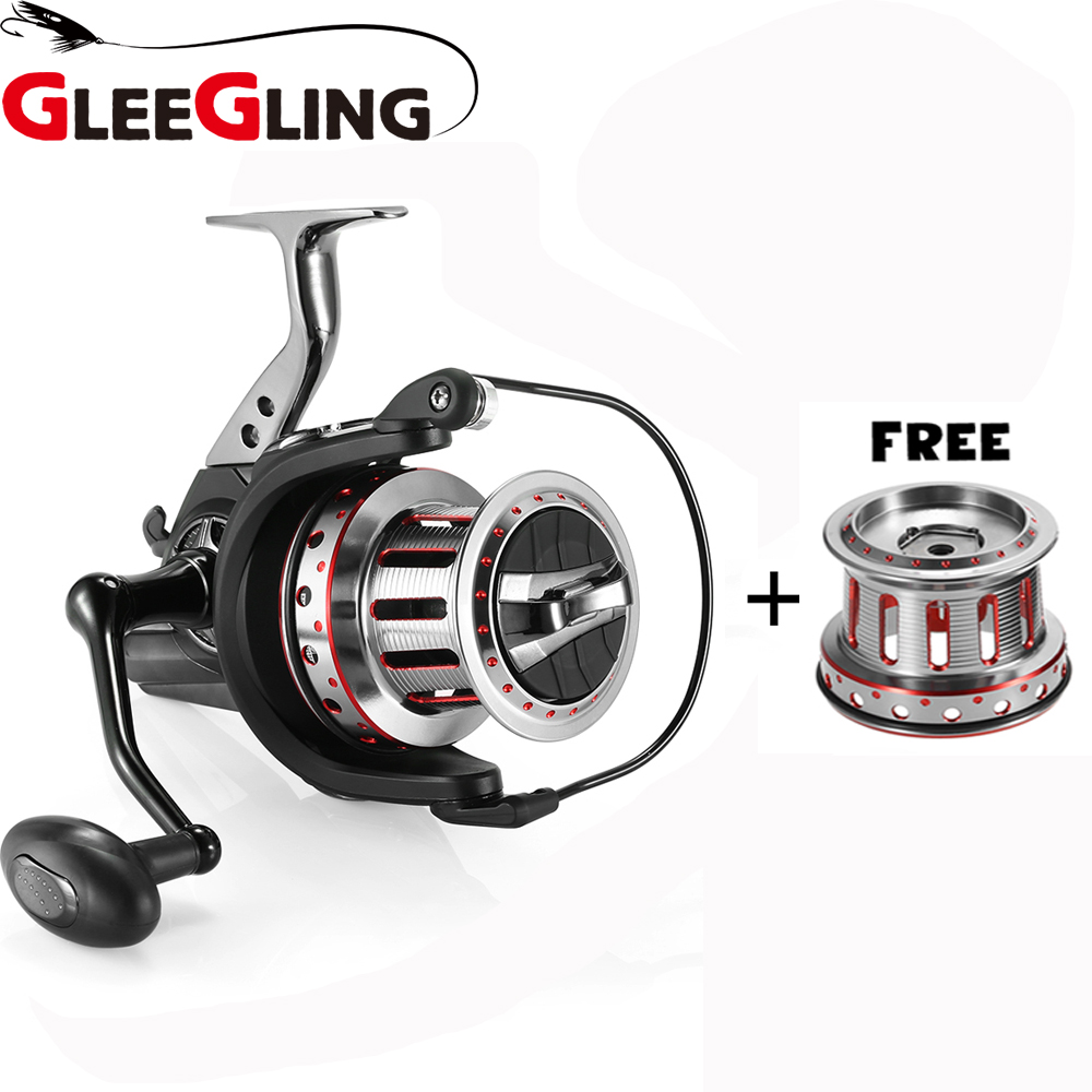GLEEGLING 1 Fishing Reel+ 2 Metal Wire Cup Fishing Reel Handle 10000 Series Spinning Reel Ratio 4.7:1 Fishing Pole Wheel 11+1BB new alarm electric spinning fishing reel fg3000 6000 series fishing reel 5 0 1 8 1bb bearing balls fishing wheel