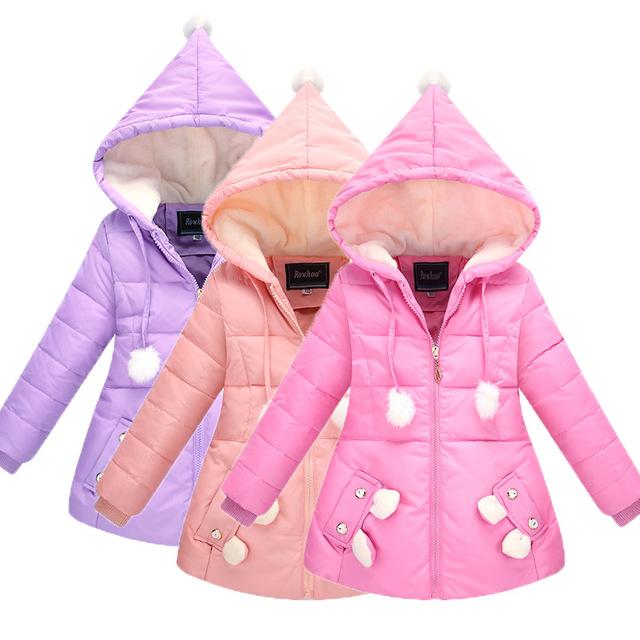 Grande meninas das crianças para baixo jaqueta na seção longa de o novo outono e inverno das crianças de inverno de espessura quente jaqueta HT186