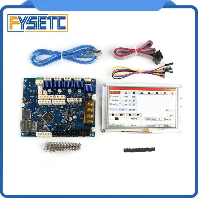 Clone Duet 2 Maestro Geavanceerde 32 Bit Elektronica Met 7 7 inch PanelDue 7i Geïntegreerde Kleur Touch Screen Controllers