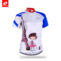 NUCKILY Summer Cycling Jersey Women Anti Sweat Girls Design Bicycle Wear Sport Apparel NJ515