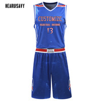 Hearuisavy Custom team basketball jersey Comfortable and breathable sweatshirt. Sleeveless Basketball Uniforms DIY League jersey