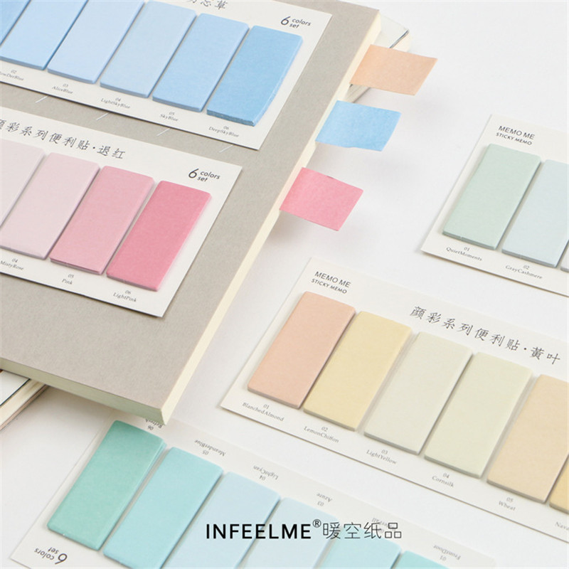 Kawaii Colorful Post it Memo Pads Self-Adhesive Sticky Paper Notes Bookmarks School Office Stationery Supplies Papelaria 01959