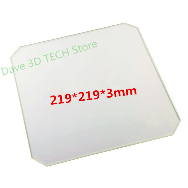 219x219x3mm Borosilicate Glass plate for Wanhao Duplicator i3 Anet A8 A6 MP Maker Select 3D Printers219x219x3mm Borosilicate Glass plate for Wanhao Duplicator i3 Anet A8 A6 MP Maker Select 3D Printers