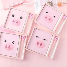 Kawaii Pink Pig Diary Notebook Pen Set Cute School Office Supplies Stationery Planner For Girl Gift lovedoki 2018 cute notebook unicorn a5a6 diary personal planner weekly monthly plan for gift office stationery school supplies
