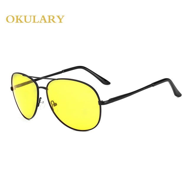 2018 Man Polarized Oval Sunglasses 3 Color Black/Blue/Yellow Metal Frame Free Shipping