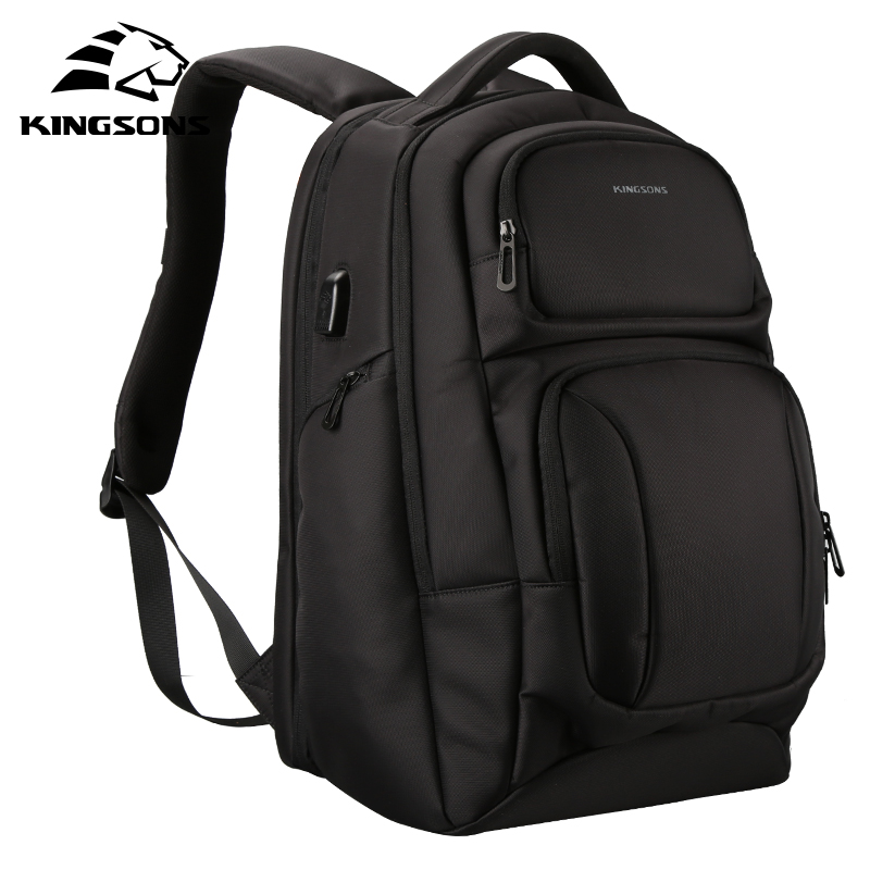 Kingsons Men Male Canvas Backpacks College Student School Backpack Bags for Teenagers Mochila Casual Rucksack Travel Daypack bacisco men women backpack 16inch laptop backpacks for teenage girls casual travel bags daypack canvas backpack school mochila