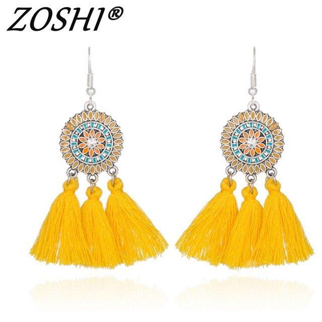 New Wedding Tassel Statement Earring Multicolored Hot Fashion Silver Drop  Dangle Fringe Earrings For Women Wholesale 83b52825515a