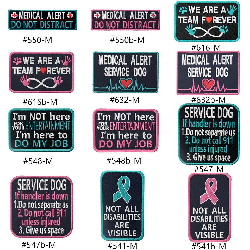 Service Dog Embroidered Iron On Patch Applique