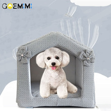2018 New Pet Cat House Foldable Soft Comfortable Bed Dog Cute Kennel For Small Medium Top Quality Cave