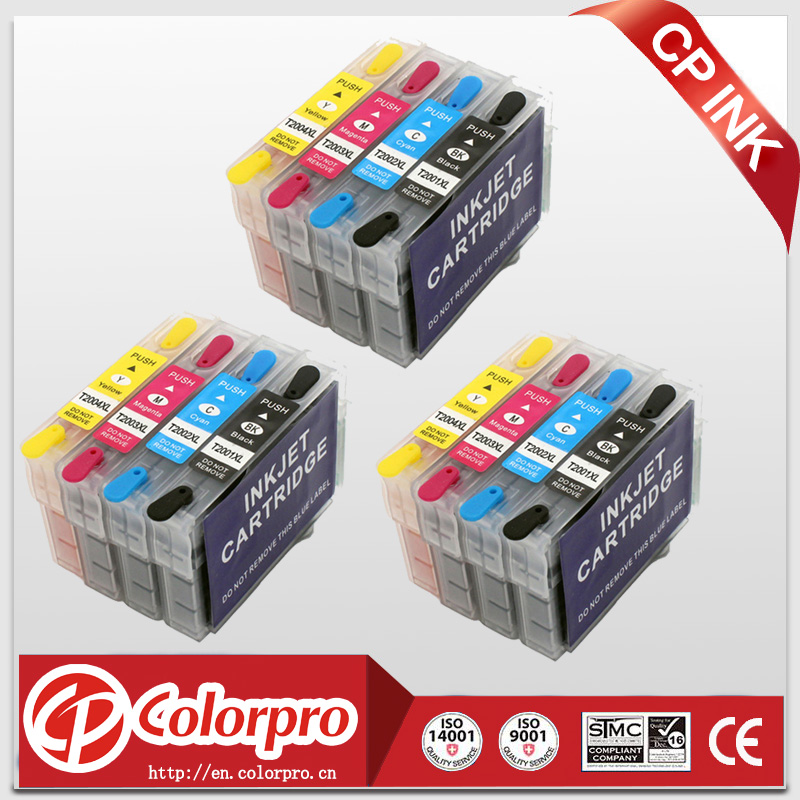 12PK (3BK+3C+3M+3Y) T2001XL-T2004XL edible ink cartridge for <font><b>epson</b></font> <font><b>XP</b></font>-410 <font><b>XP</b></font>-300 <font><b>XP</b></font>-310 <font><b>XP</b></font>-<font><b>400</b></font> <font><b>XP</b></font>-200 WF-2540 WF-2530 image
