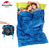 Naturehike Super Light Cotton Filling 2 Person Sleeping Bag Outdoor Camping Indoor Portable Sleeping Bag For
