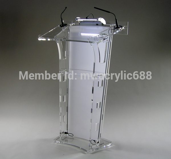 Free Shipping HoYode Monterrey Price Reasonable Acrylic Podium Pulpit Lectern