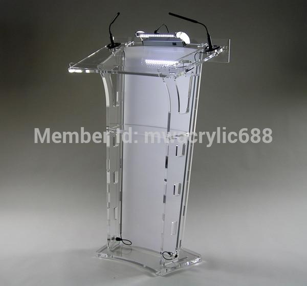 Free Shipping HoYode Monterrey Price Reasonable Acrylic Podium Pulpit Lectern