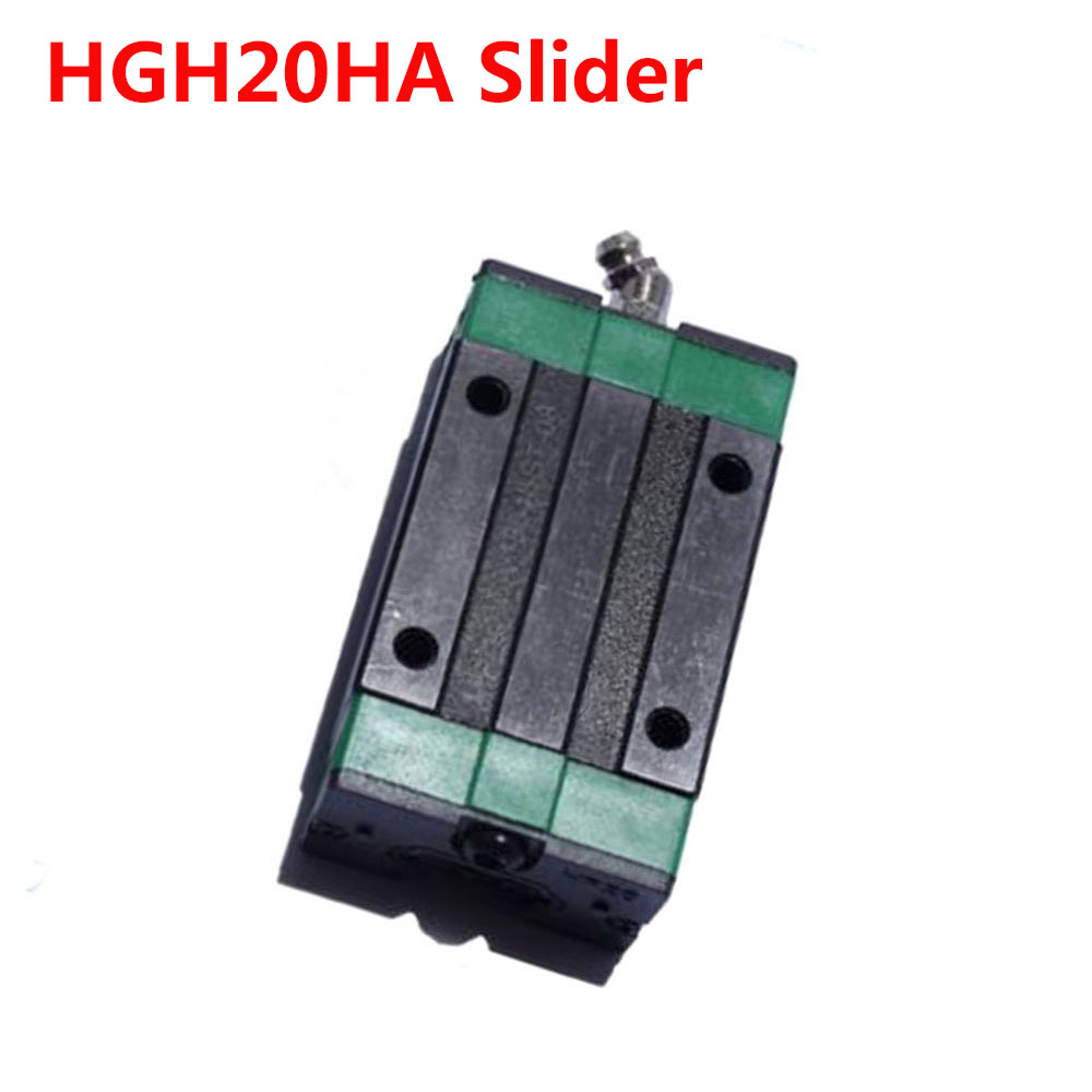 1PC HGH20HA Slider match use HGR20 Linear Guide Width 20mm Rail for CNC DIY parts large format printer spare parts wit color mutoh lecai locor xenons block slider qeh20ca linear guide slider 1pc