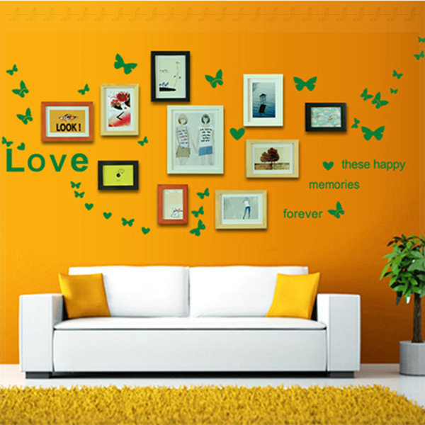 Photos of wall background wall decorative PVC stickers love ...