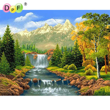 Elegant scenery Diy diamond painting cross stitch 60X45 rhinestone pasted embroidery square drill full home decoration drawing