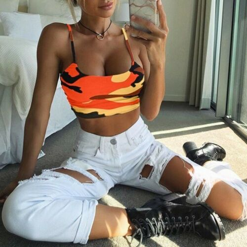 Casual Tops Essential-Clothing Vest Camisole Crop-Top Tank Off-Shoulder Summer Sexy Women's