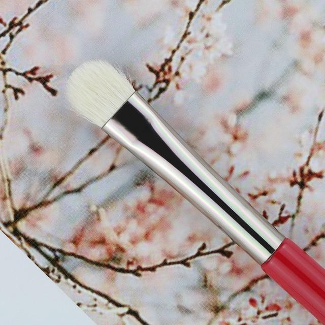 BEILI 1pc Red Professional Eye Makeup Brush Natural Goat Hair Eyeshadow brush Blender Detail Smudger Smoky shade 2