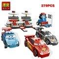 279 unids anime película corea robot cars 2 racing car building blocks ladrillos partículas modelo juguetes bela 10012 compatible con lego