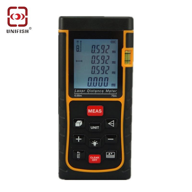 ФОТО SW-E70 Digital Handheld Laser Distance Meter Measure Finder 70M LCD Display Digital Range Finder Laser Tape Measure