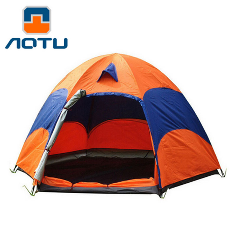 5-8 person Single door Double Layer Tent hexagonal tent Windproof Waterproof Anti UV  Outdoor Hiking Camping Picnic tent hewolf 2persons 4seasons double layer anti big rain wind outdoor mountains camping tent couple hiking tent in good quality