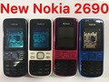 New nokia 2690 mobile phones shell full keyboard in the shell shell Button battery back cover