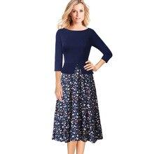 فستان ربيعي أنيق فورمال ملابس عمل مميزة