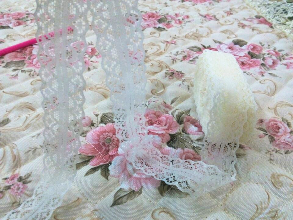 28mm wide beautiful lace ribbon lace fabric DIY embroidery pure lace embroidery decoration 21 color lace fabric 5-10yards