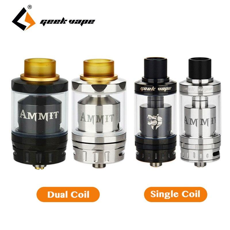 Originale Geekvape Ammit RTA Dual Coil/Single Coil Ammit RDTA Canotta Refill Sistema Clearomizer RDTA Stile Cig Elettronico serbatoio