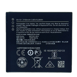 2150mAh BV-5V Battery For Nokia 1 TA-1047 Mobile Phone In Stock High Quality +Tracking Number