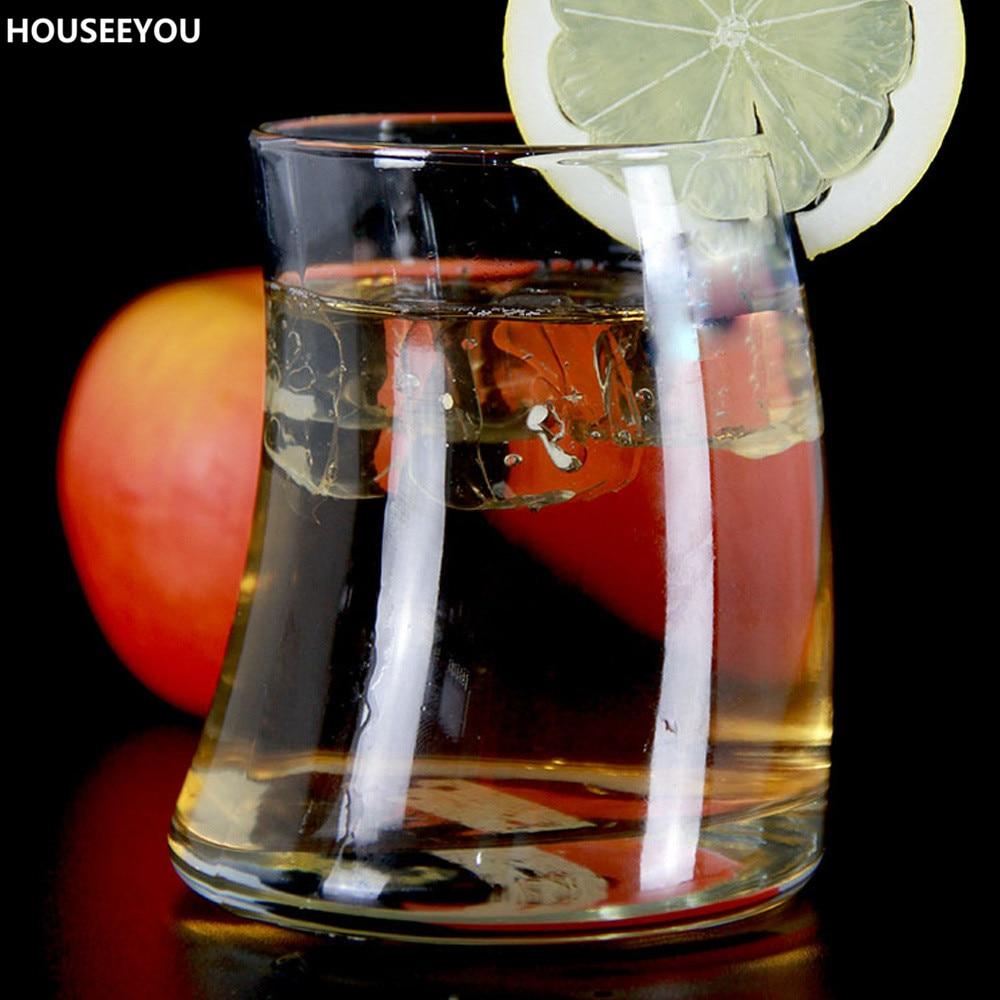 Glass juice cups design - 362ml Sail Shaped Heatproof Crystal Glass Wine Mug Whiskey Cups Juice Beer Coffee Cocktail Glass Cup