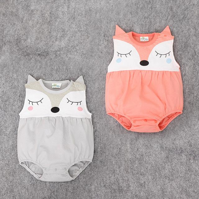 Recém-nascidos de verão Sem Mangas de Algodão Do Bebê Romper Macacão de Bebê Da Menina do Menino Roupas roupas de bebe