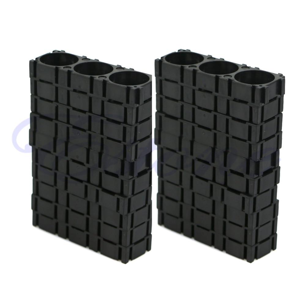 1 Set Zwart 20 Pcs 3x18650 Batterij Spacer Uitstralende Houder Beugel Elektrische Auto Fiets Speelgoed Nieuwe