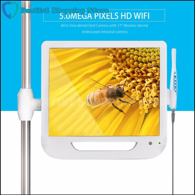 Nouveauté 17 pouces moniteur USB/Wifi Endoscope intra-oral Endoscope caméra 6 caméra LED caméra dentaire dentiste lumière dentaire